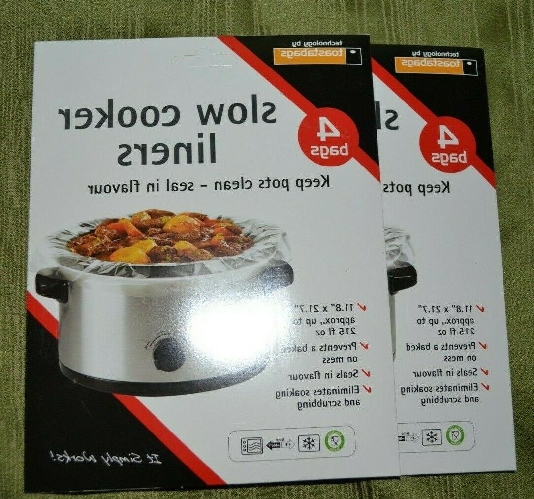 16 crock pot slow cooker liners bags