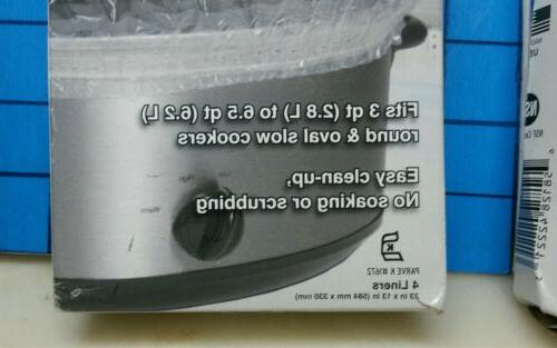 2 box PanSaver Cooker Liners Sure Band fits 3 qt to 6.5 qt round/oval