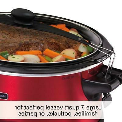 2 Piece 7-Quart Programmable Slow Cooker Cook & Carry Plus Pot