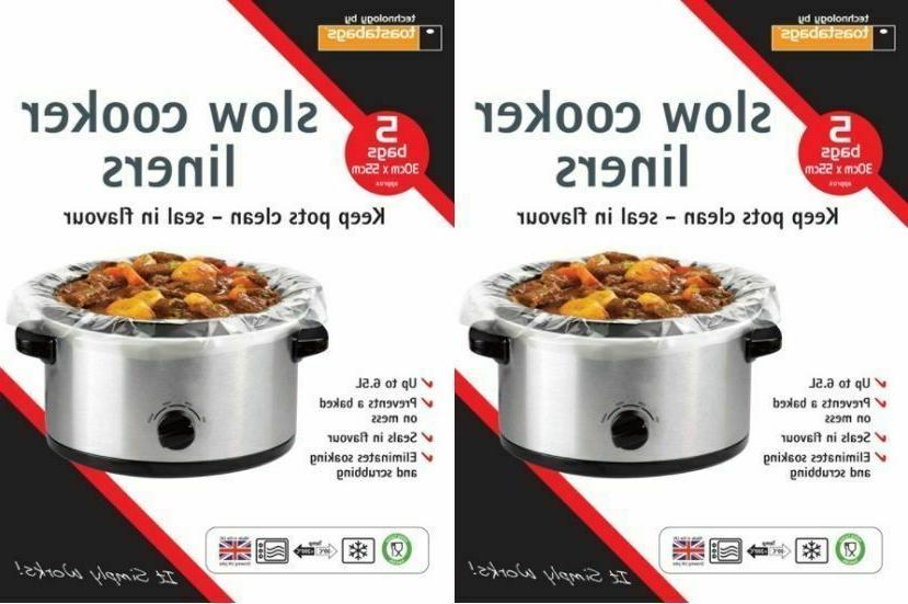 2 x packs slow cooker liners packs