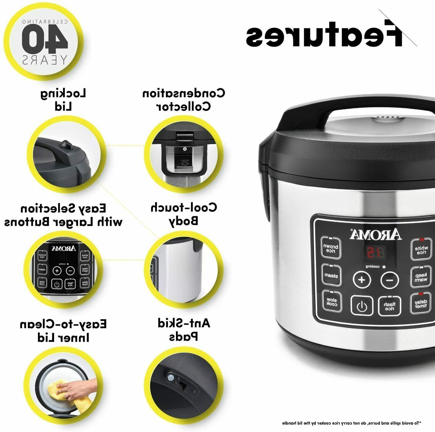 Programmable Automatic Rice Cooker 20 Cup Food NEW