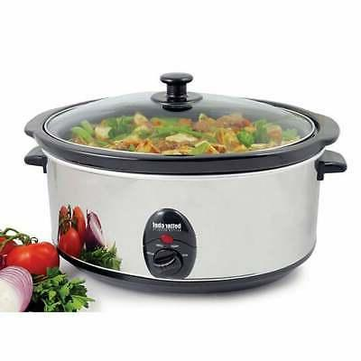 3 5 quart oval slow cooker white