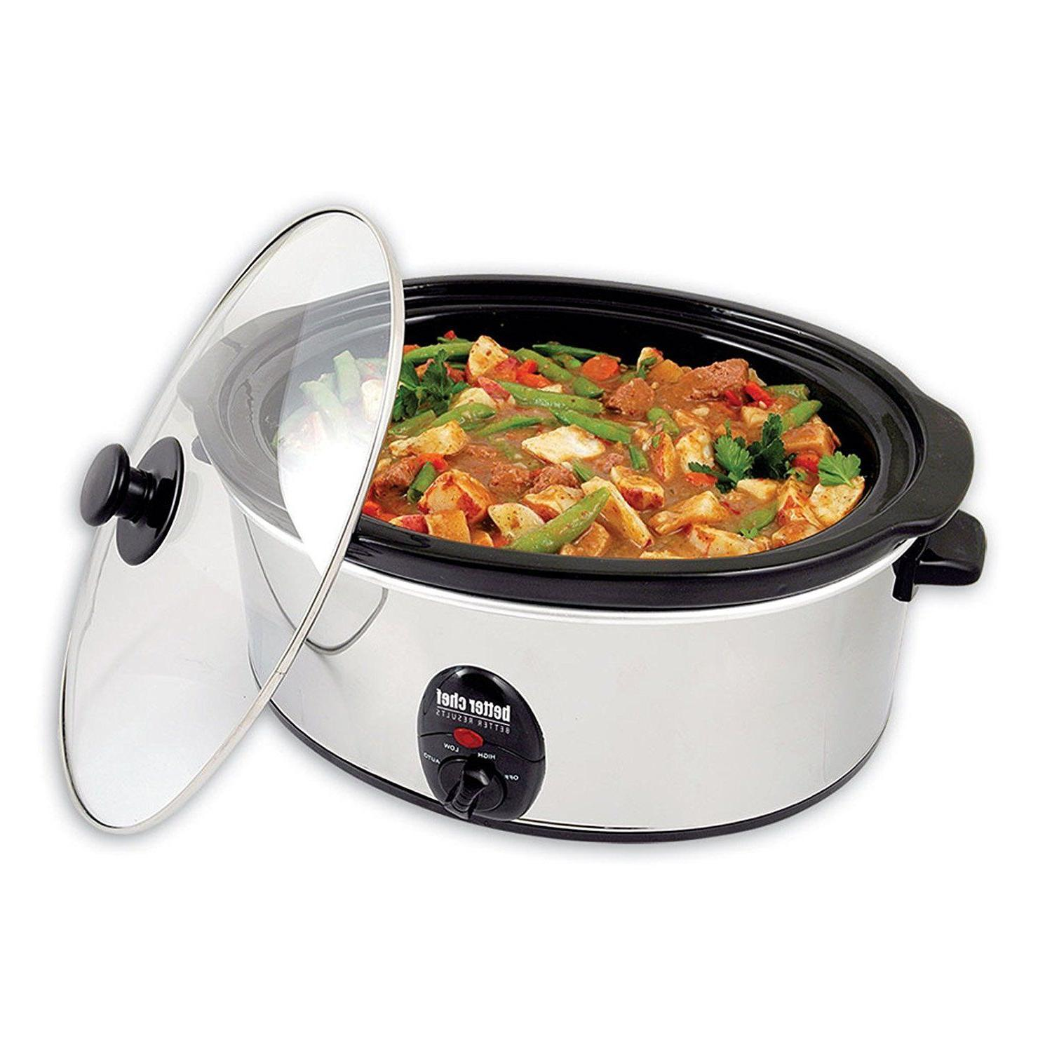Better Chef 3.7-Quart Slow Cooker With Removable Stoneware-