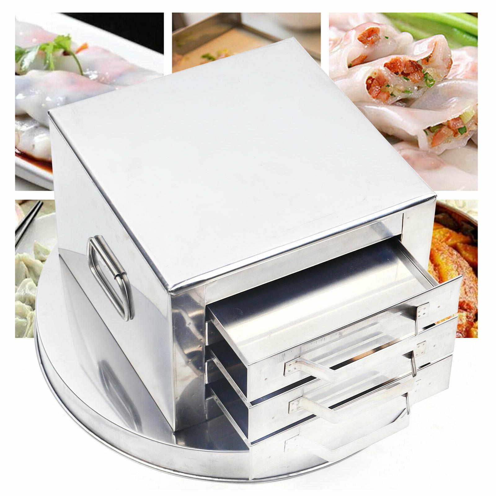 3 layer rice noodle roll steamer cooker