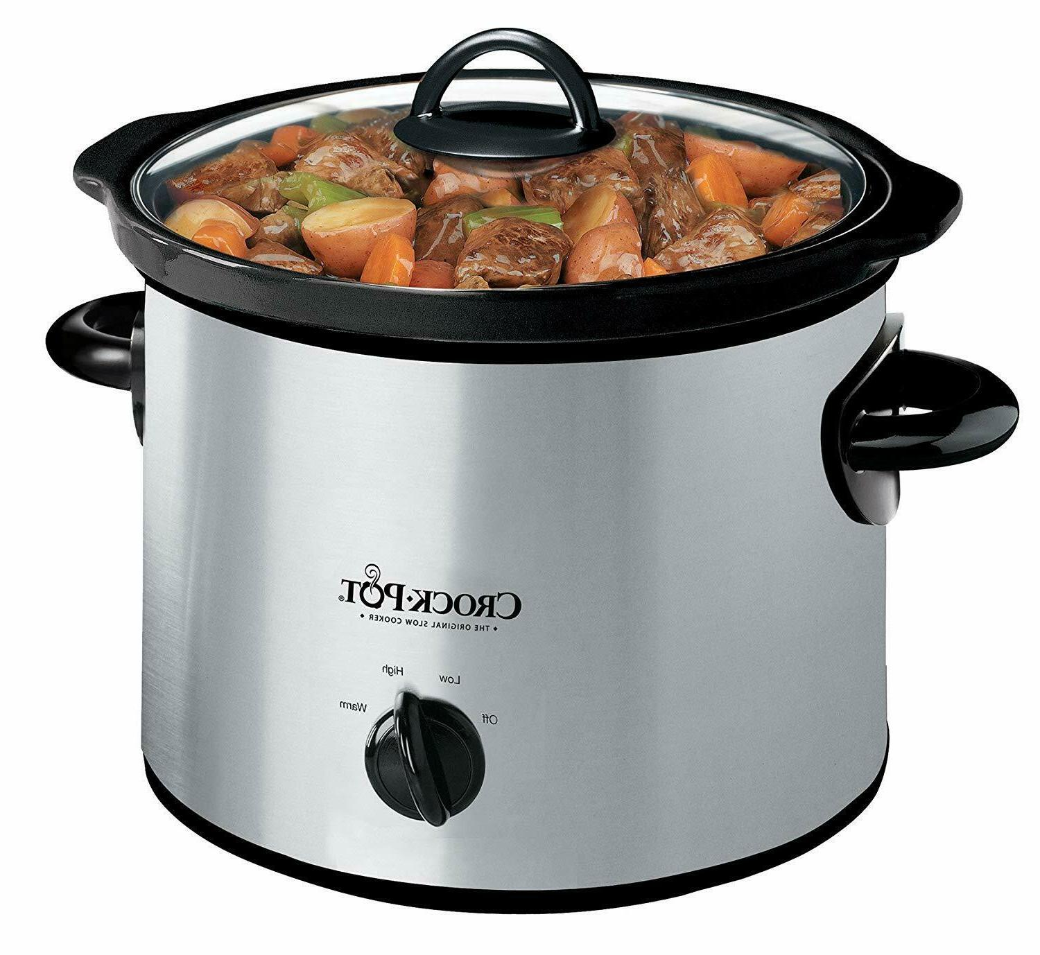3 quart manual slow cooker dishwasher safe