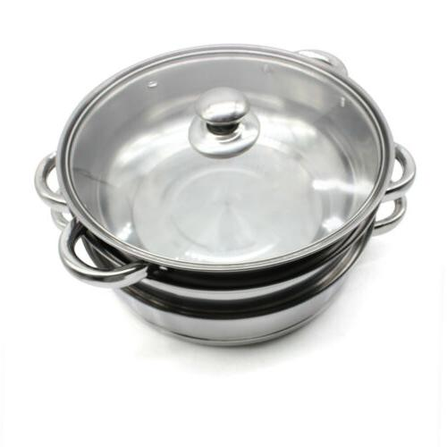 3 Food Steamer Stainless Cooker Silve