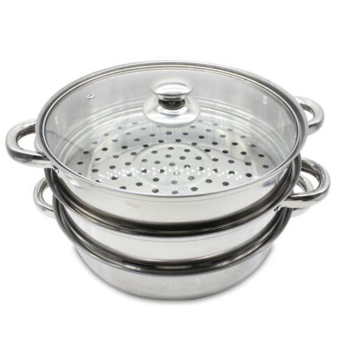 3tier cooker Steam pot Stainless Steel Kitchen cookware Hot Pot