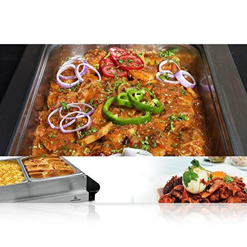 NutriChef Tray Server Food Electric Food | Easy Great for Parties Events Max Temp 175F