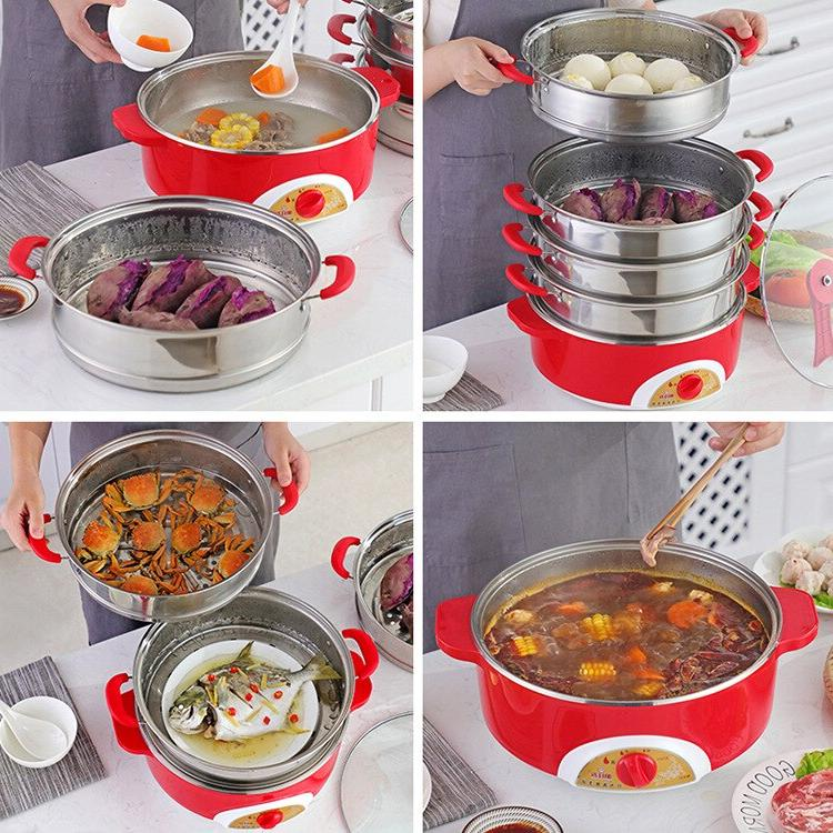 304 stainless steel instant pot <font><b>slow</b></font> <font><b>cooker</b></font> steamer food electric steamer warmer