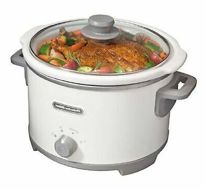 33042 4 quart slow cooker white