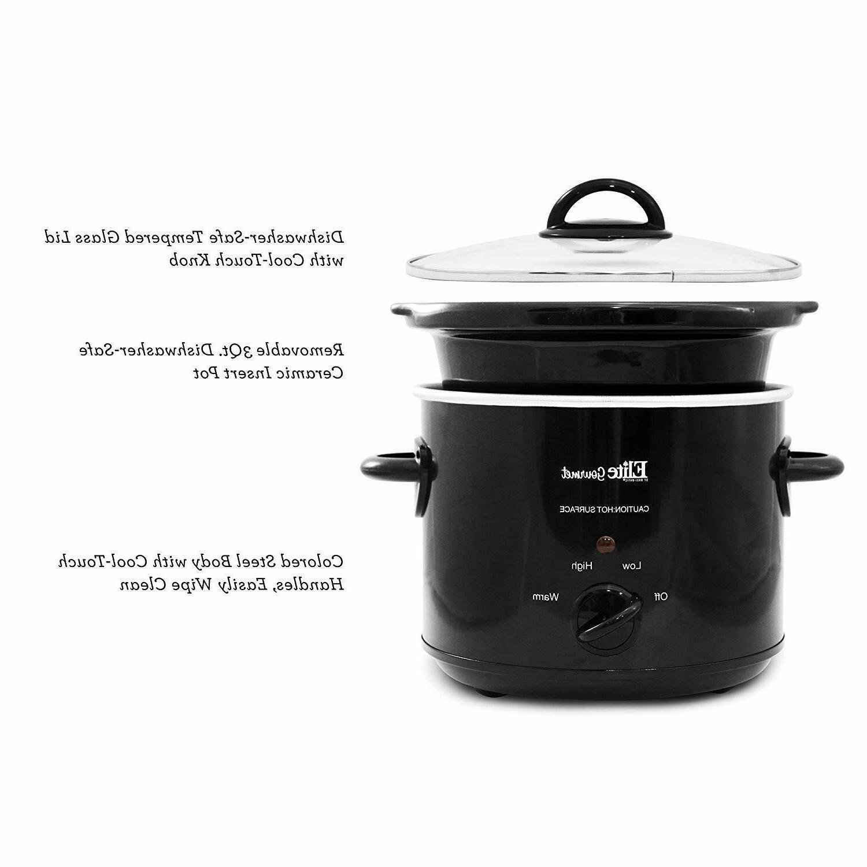 3qt Crock Pot Slow Cooker 3 Quart Big Best