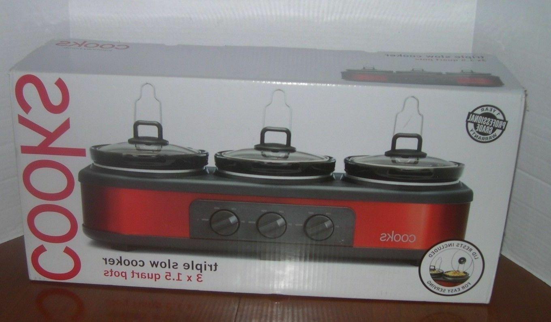 3x1 5 qt triple slow cooker
