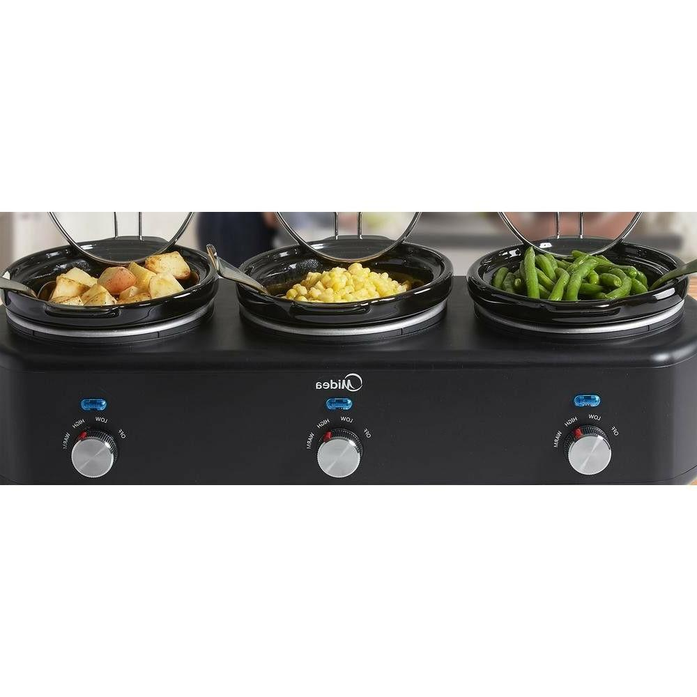4.5-Qt Kitchen Small Appliances Triple Slow Cooker