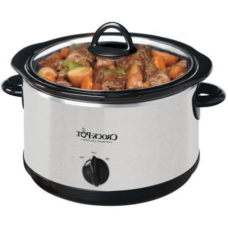 Crock-Pot 4-Quart Oval Slow Cooker Stoneware,high, low and settings Silver