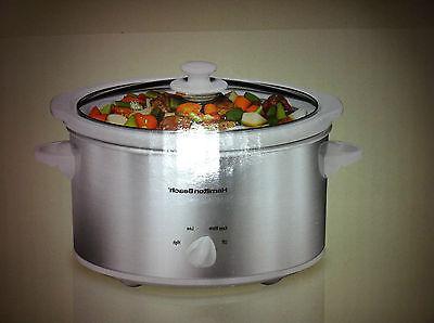 4 quart slow cooker stainless steel model