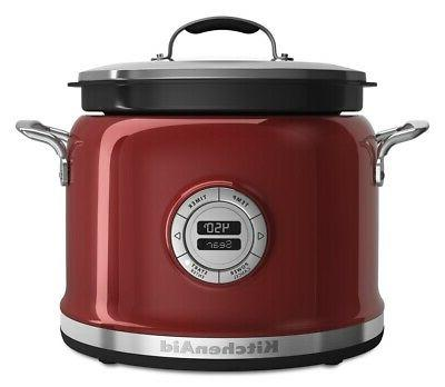 4qt multi cooker candy apple red