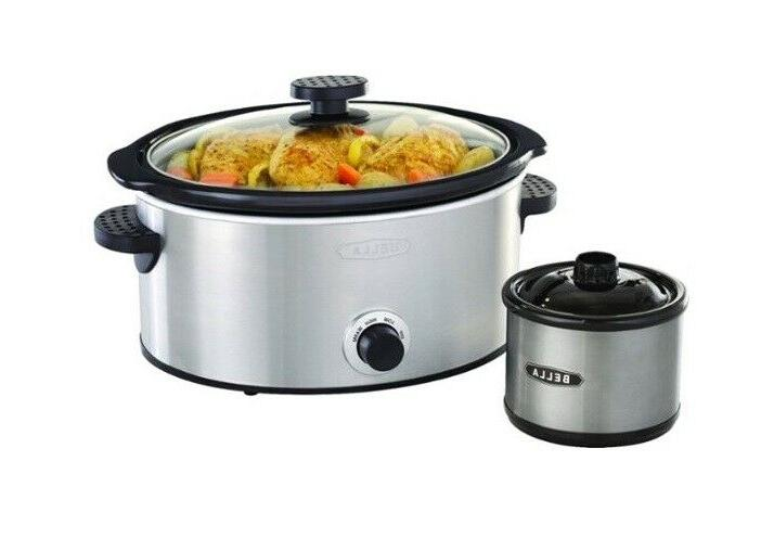 5 qt slow cooker with dipper stainless