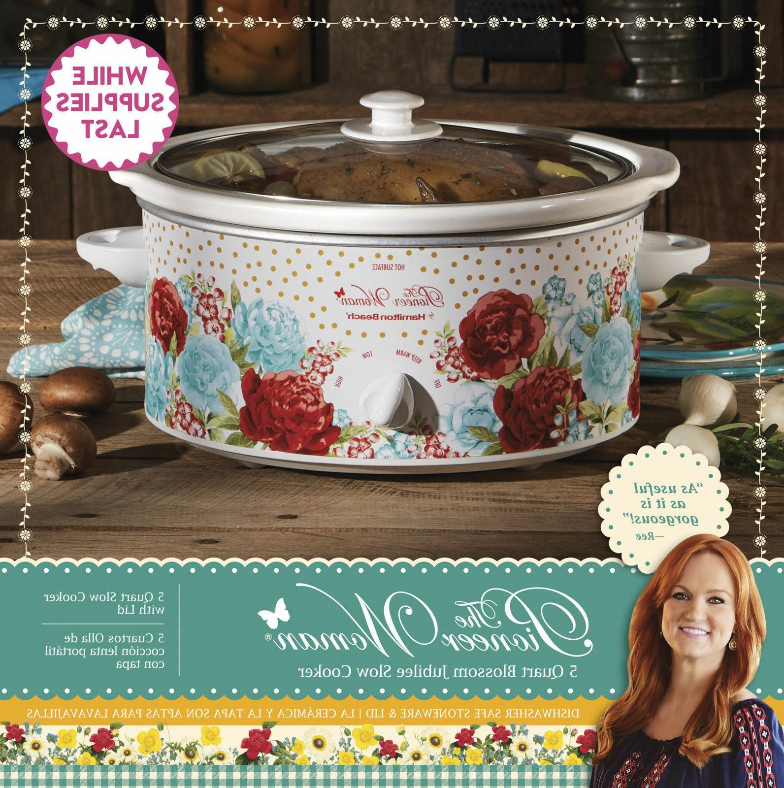 5 quart blossom jubilee slow cooker crock