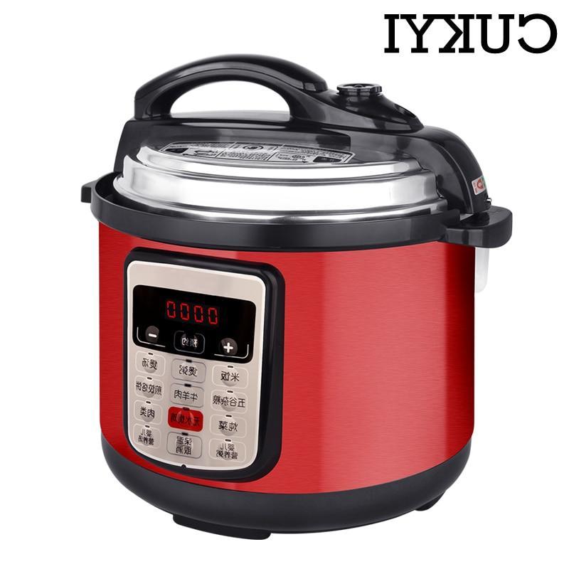CUKYI 5L <font><b>Pressure</b></font> <font><b>slow</b></font> cooking pot non-stick <font><b>Cooker</b></font> 900W <font><b>Steel</b></font> Electric