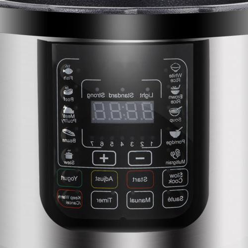 6.3Qt 7-in-1 Multi-Use Programmable Pressure Slow Cook Yogurt Maker
