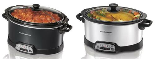 6 7 quart programmable slow cookers