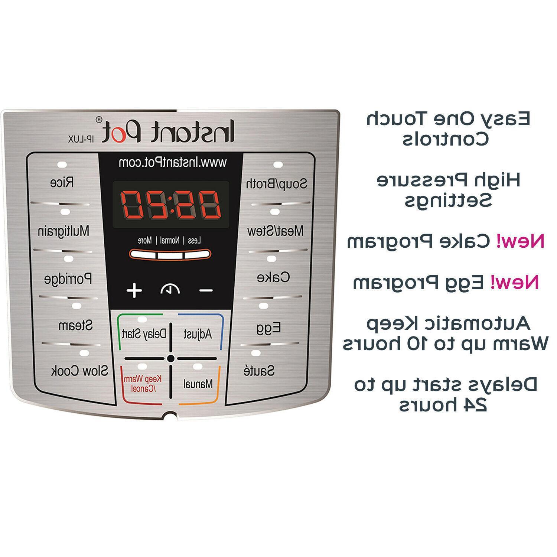 6 Instant Pot Programmable Pressure Cooker Qt Multi Use Slow Lux60V3