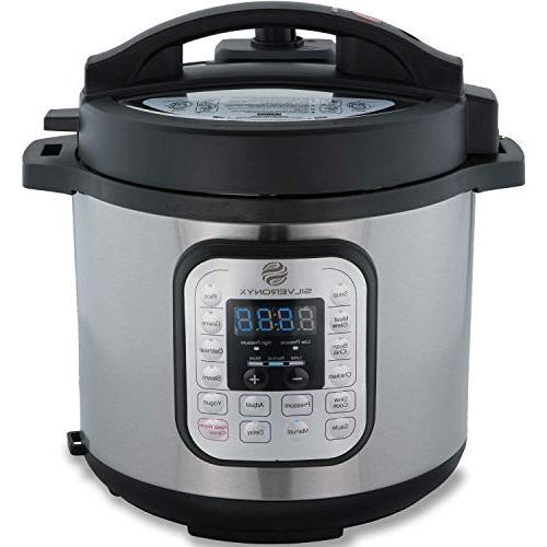 Multi-pot Electric 6 Pot, 1000 Watt Pressure, Recipe Included. Slow Steamer Warmer SilverOnyx