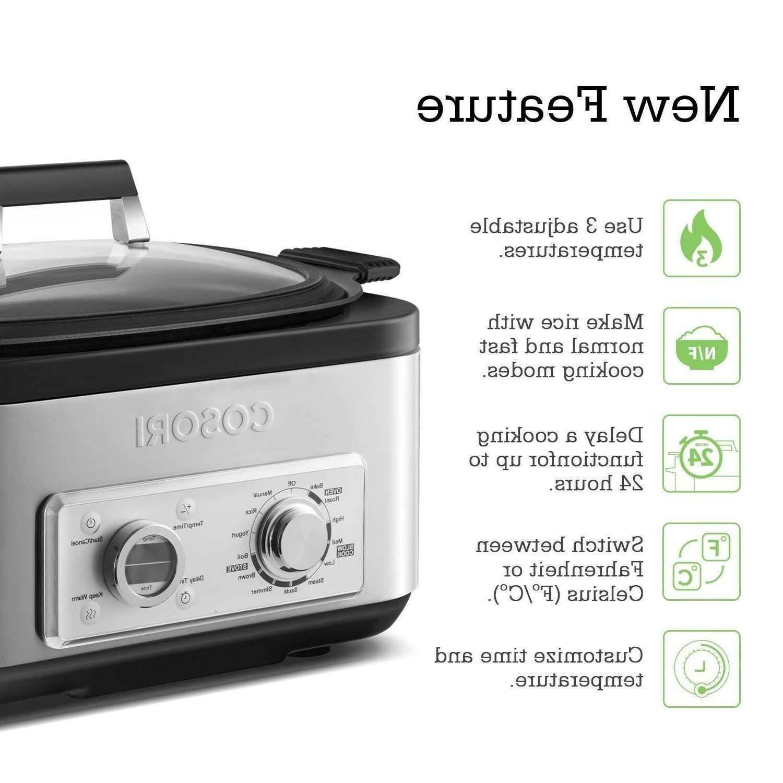 COSORI 6 Qt Programmable Multi Cooker,Brown,Saut