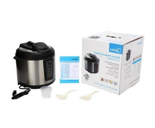 6 qt black electric power pressure cooker