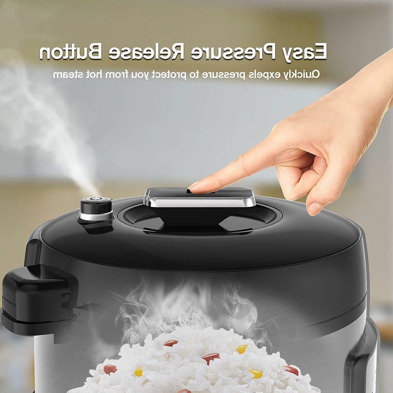 6 Qt Electric Cooker Sauté Steamer Warmer Stainless