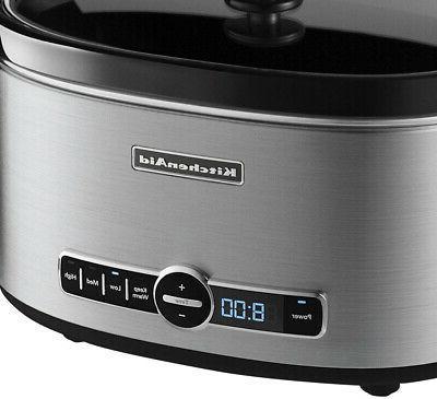 KitchenAid 6 Qt Slow Cooker Removable Vessel