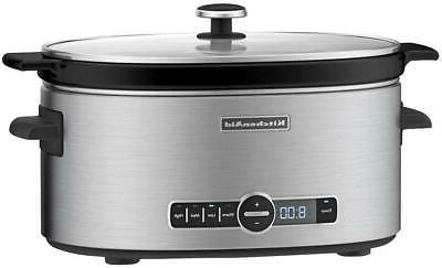 KitchenAid Cooker Removable Vessel Solid Glass