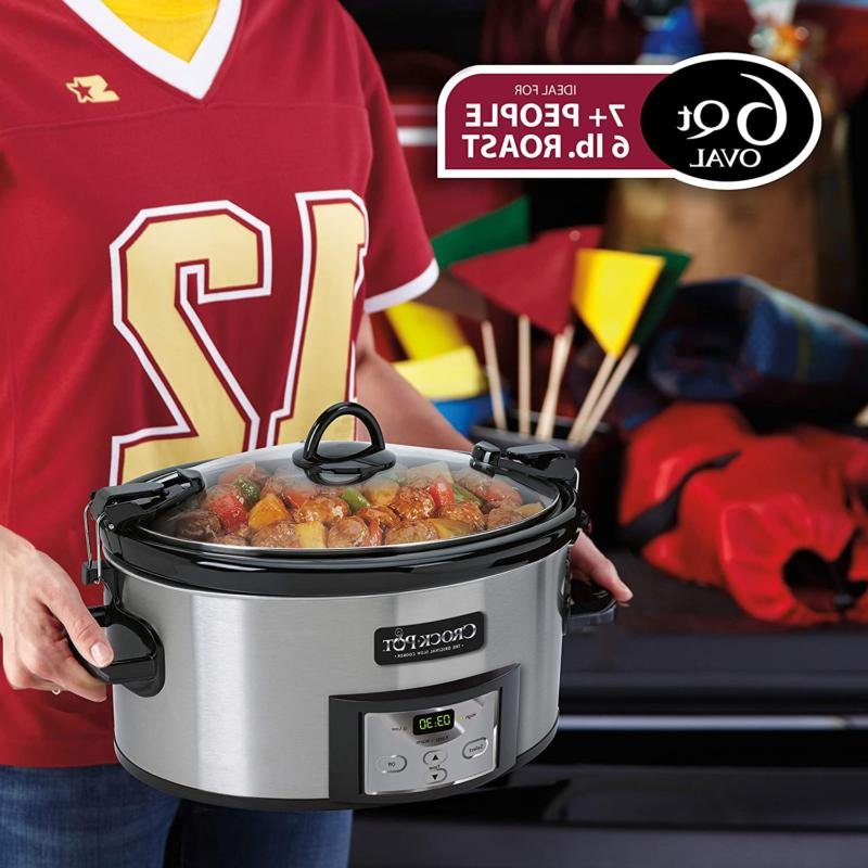 Quart Cook & Carry Programmable Slow Digital Stainless