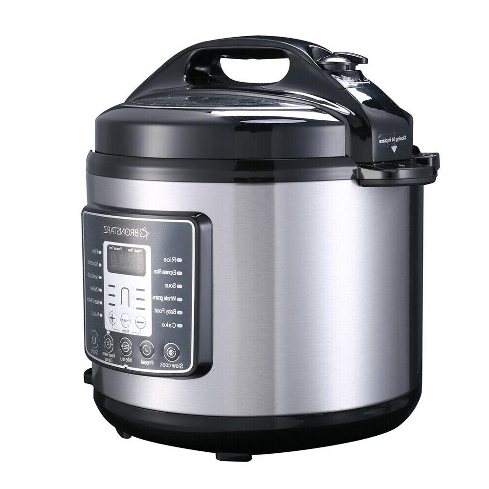 6 Quart 8-in-1 Pressure Cooker instant Slow Cook