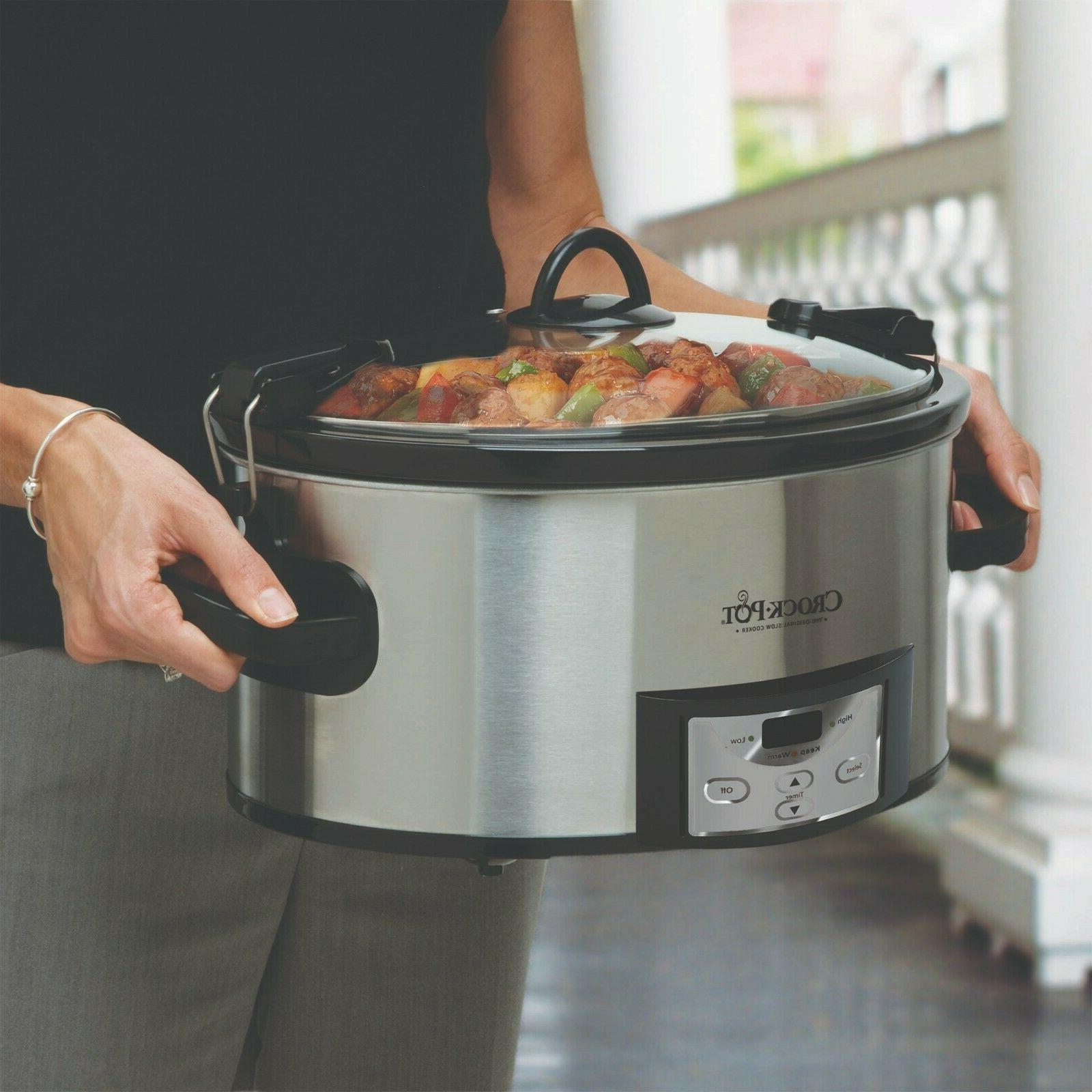 Crock-Pot 6 Quart Programmable Cook & Carry Slow Cooker with
