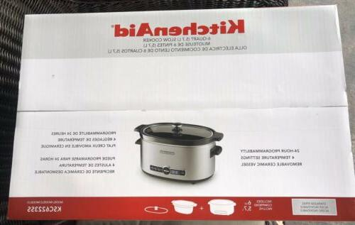 KitchenAid 6 Crock Pot Solid Glass Lid FREE SHIP!