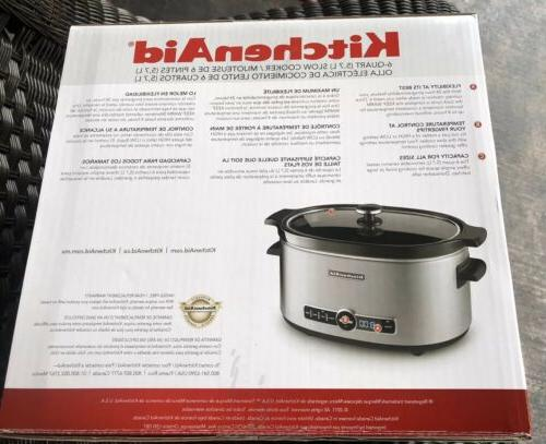 KitchenAid Quart Programmable Crock Solid Glass Lid FREE SHIP!