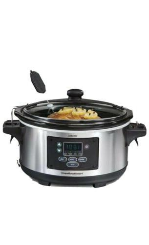 6 quart programmable slow cooker stainless steel