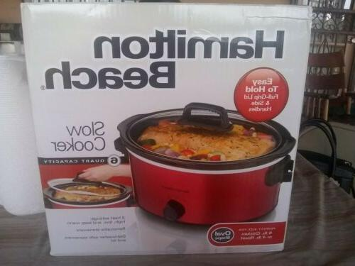 6 quart slow cooker red