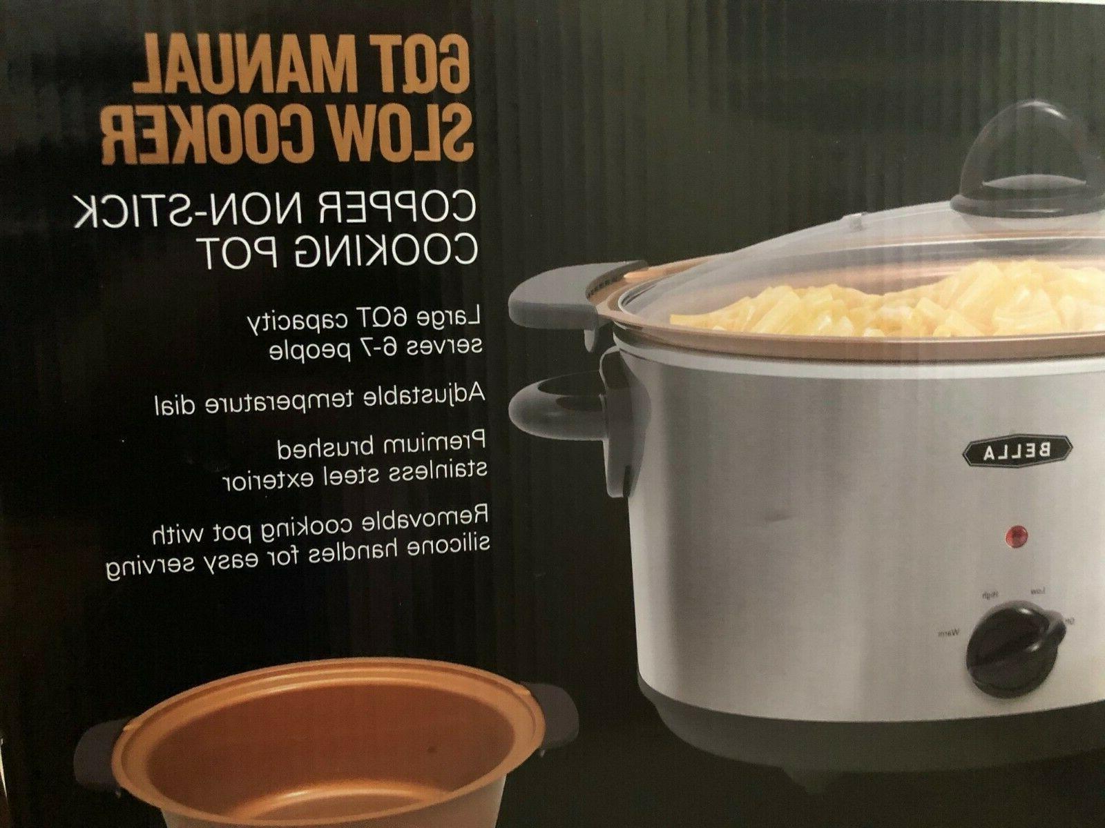 6 quart slow cooker w copper nonstick