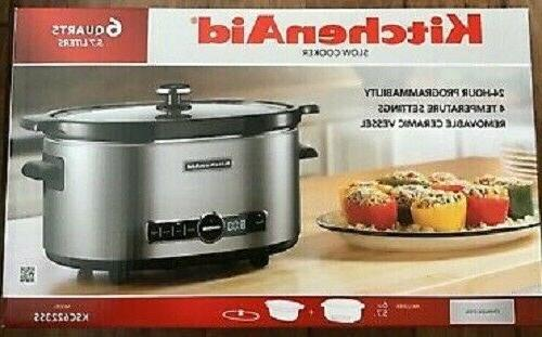 KitchenAid 6-Quart Slow Cooker with Solid Glass Lid, KSC6223