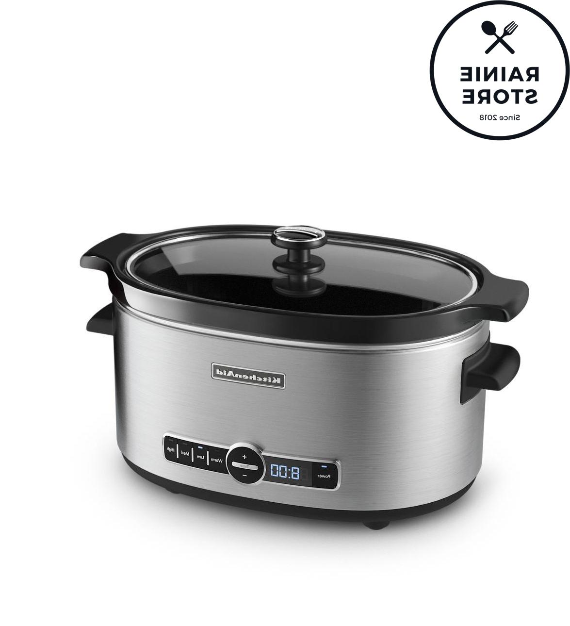 6 quart slow cooker with solid glass