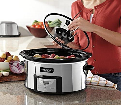Crock-Pot Oval Cooker Stir System SCCPVC600AS-P