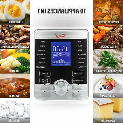 6QT Programmable Cooker 10-in-1 & Cooking Presets