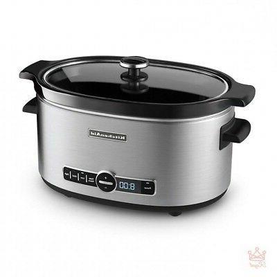 6qt slow cooker programmable 6 quart liners