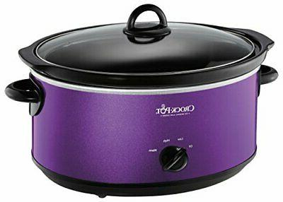 Crockpot SCV700-KP Deisgn to Shine 7QT Slow Cooker, Purple
