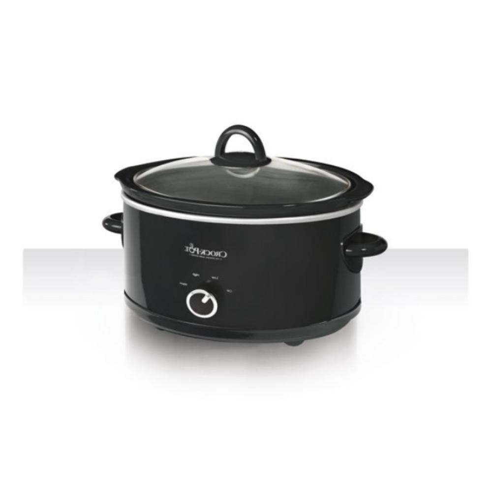 7 Manual Slow Cooker, Black, and