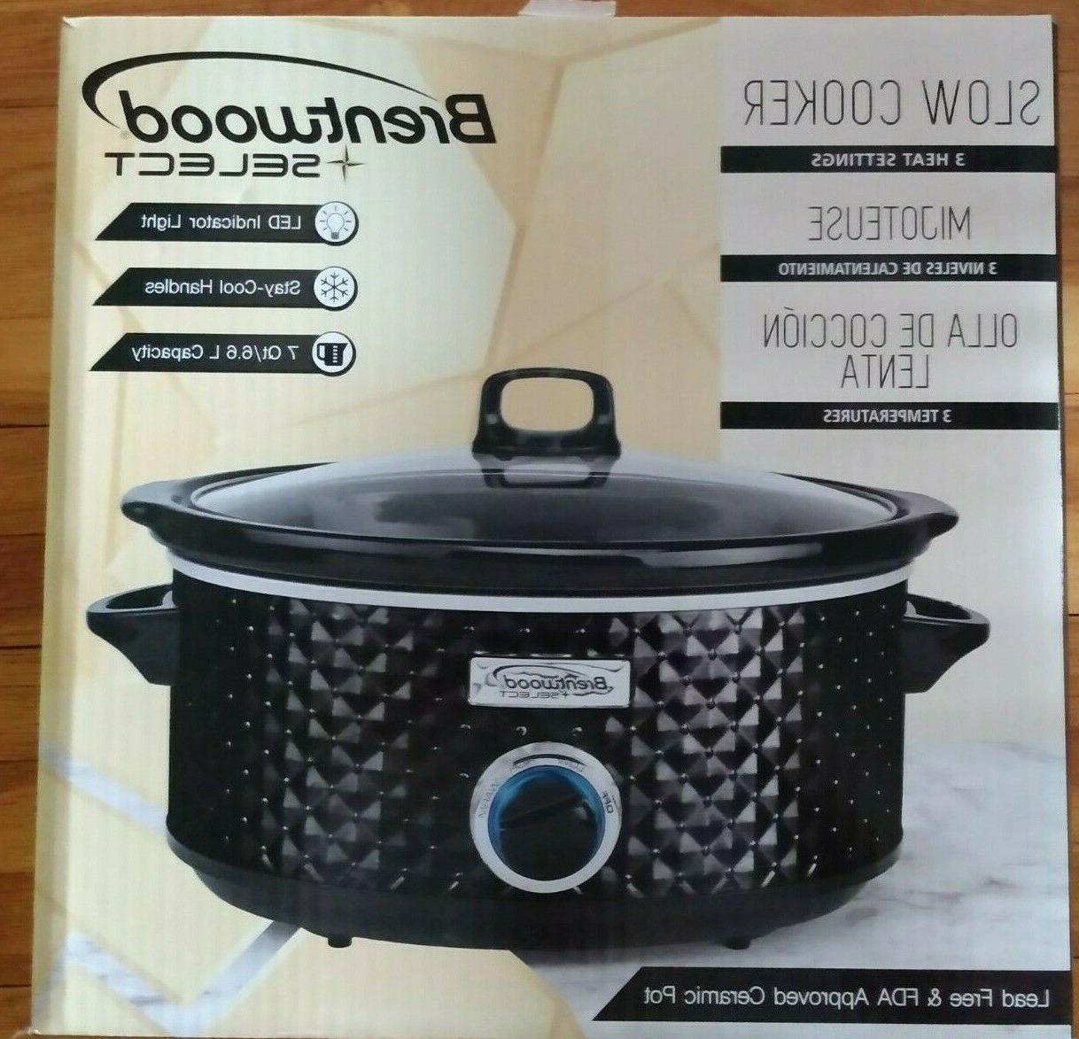 7 quart slow cooker black