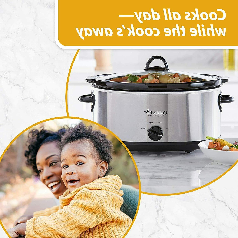 Crock-Pot 7-Quart Slow Cooker Steel