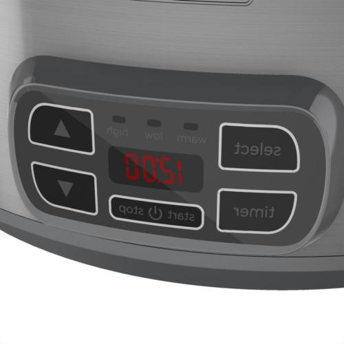 7Qt Slow Steel Locking Programmable Stoneware Crock Pot